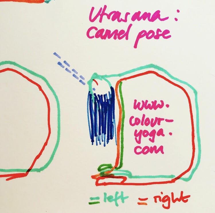 Image of Camel Pose - Utrasana - Colour Yoga UK - Sketch - #colouryogaukstickpics